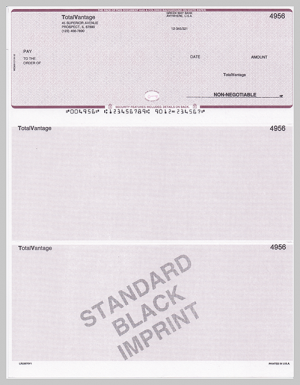 Standard Black Imprinted Checks