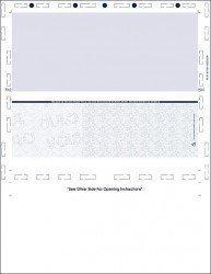 blue z-fold pressure seal letter blue check
