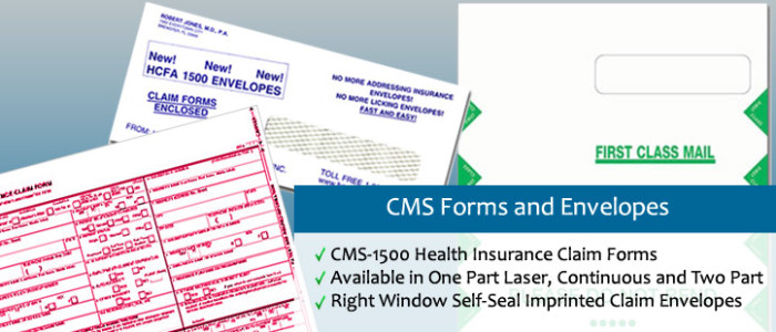 CMS Forms And Envelopes