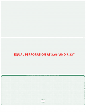 green linen bottom Equal perforation Blank Laser check