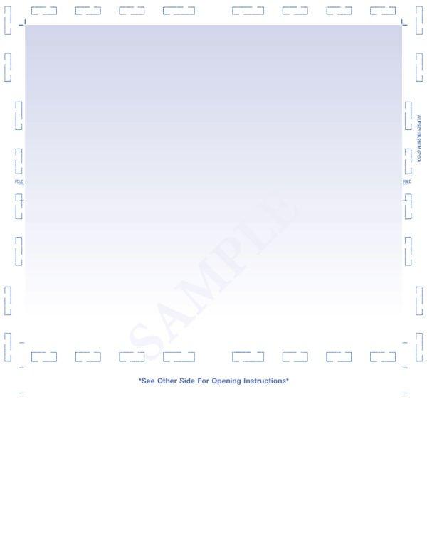 letter zfold blank form blue screen
