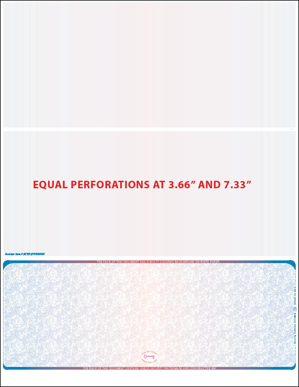 Prismatic Bottom equal Perforation Blank Laser Check