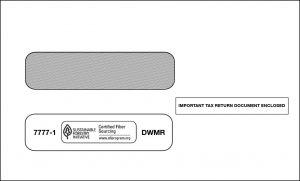 double window envelope for 1099