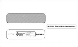 1099 double window self seal envelope