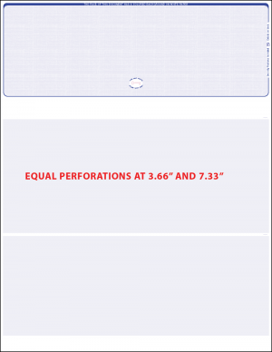 Reflex Blue Top equal perforation blank laser check