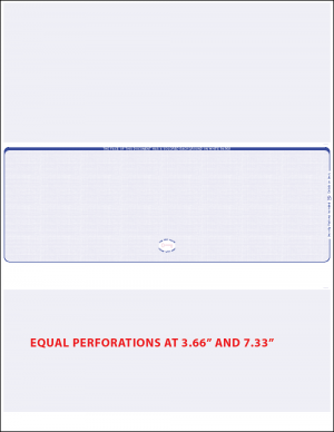 Reflex Blue Middle Equal Perforation Blank laser Check