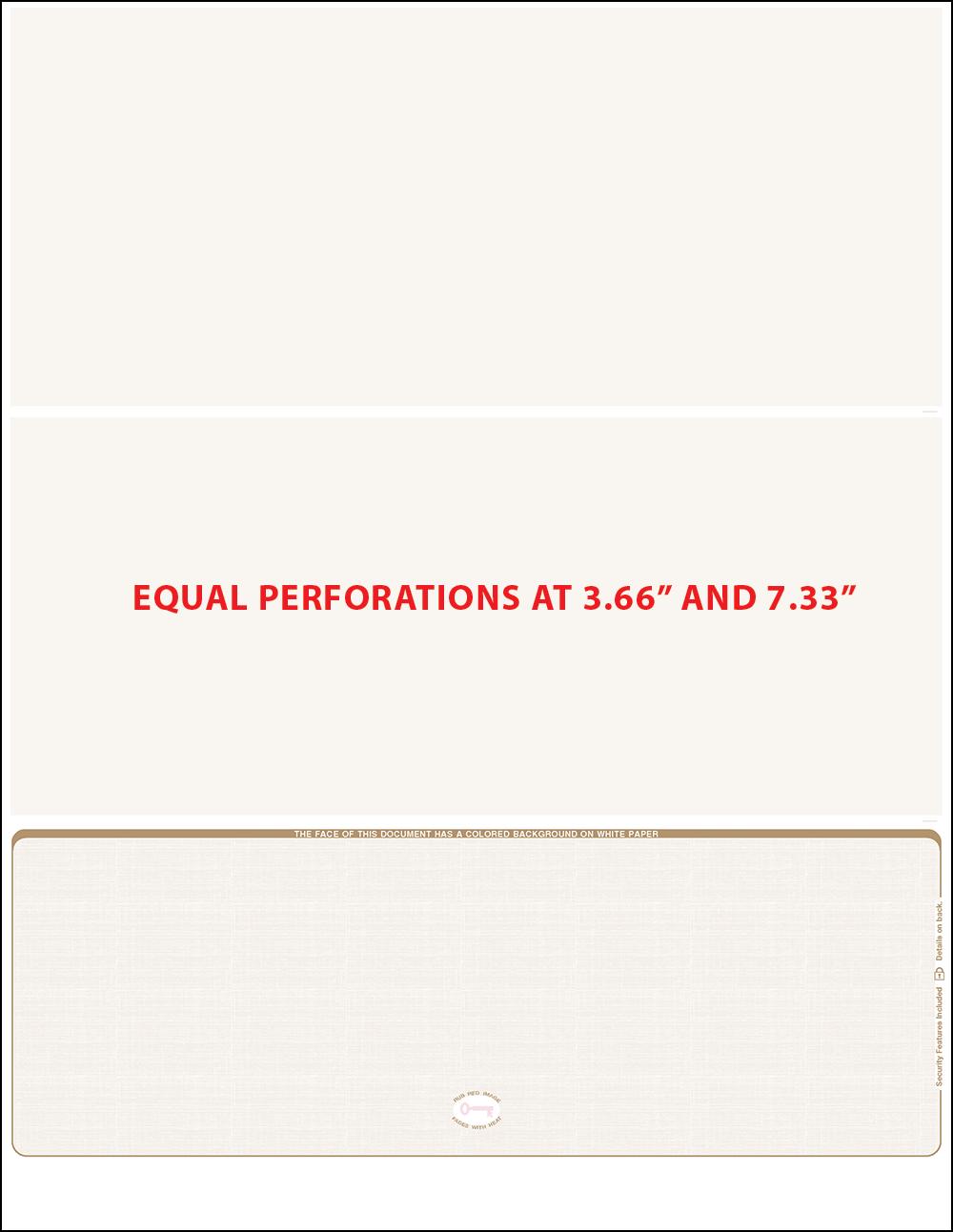 tan linen equal perforation bottom blank laser check