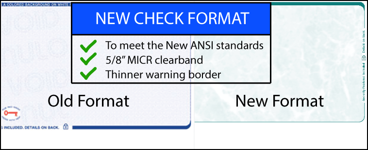 new check design format