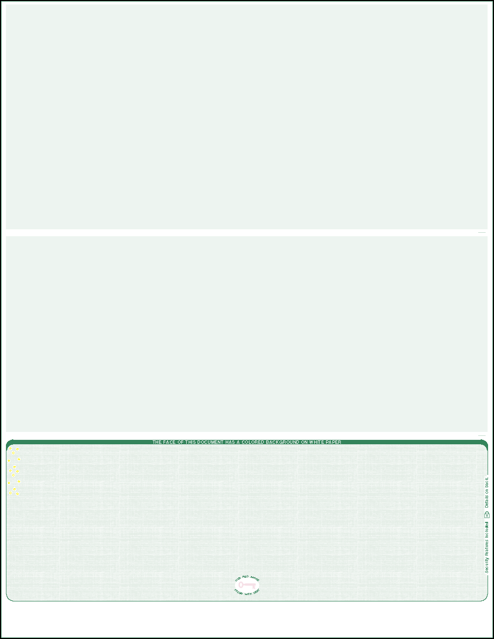 Green Linen Bottom Position Blank Laser Check